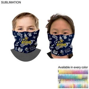 Sublimated Tubular YOUTH Neck Gaiter Facemasks (In Stock, Fast production)